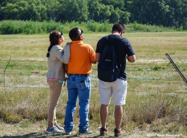 Observers watching the early stages of the eclipse from the meadows at Glendo, Wyoming.