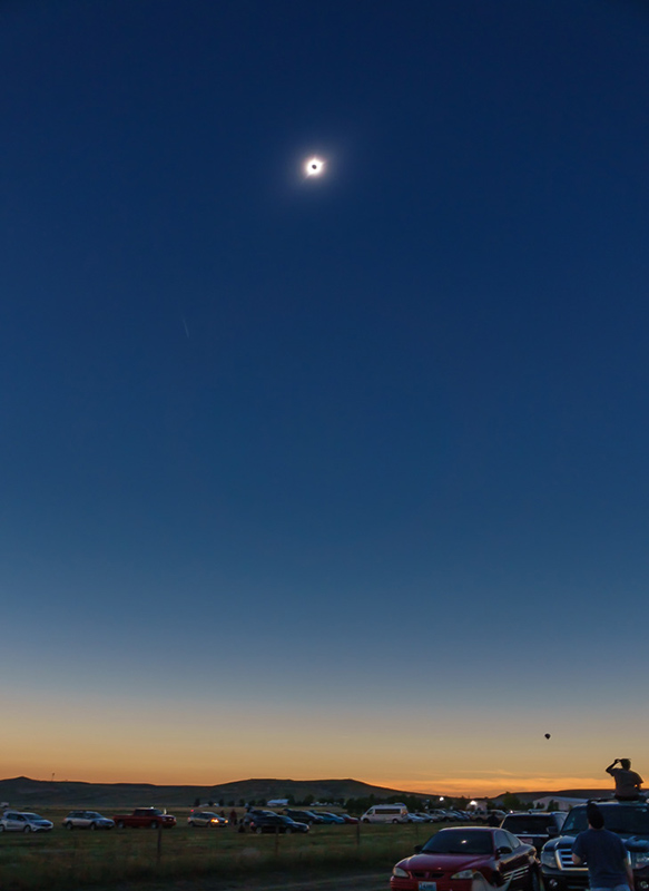 Wide-angle view of Totality. Amazing!