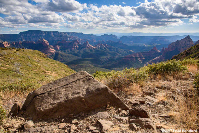 A view of Sedona from Wilson Bench.