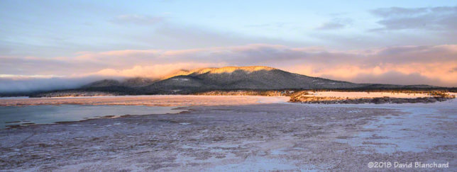 Mormon Mountain and Mormon Lake at sunrise.