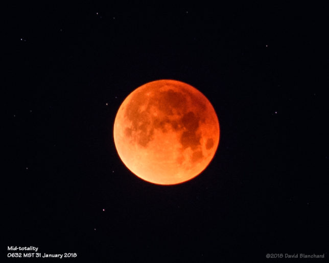 Mid-totality of Lunar Eclipse.