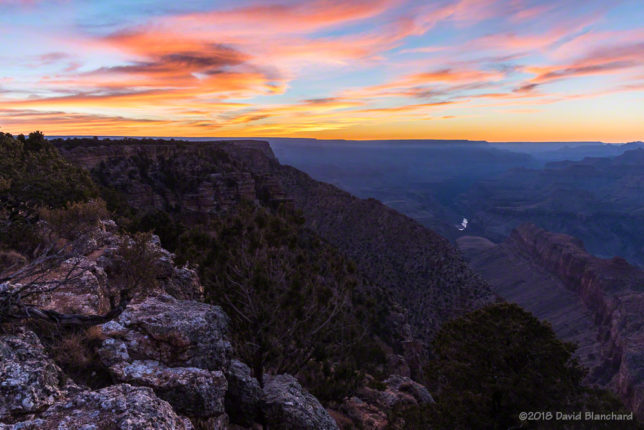Twilight at Grand Canyon.