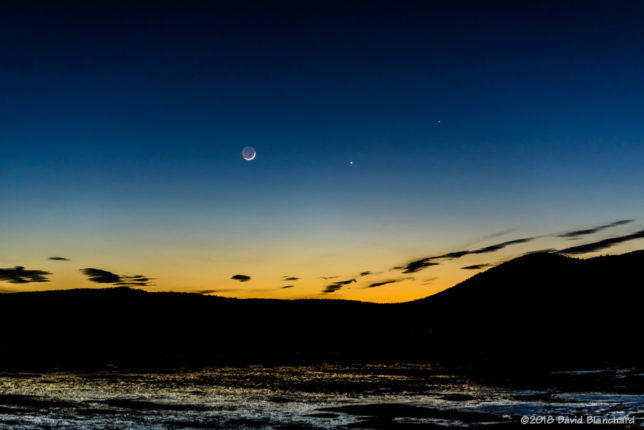 Conjuction of Mercury, Venus, and the Moon.