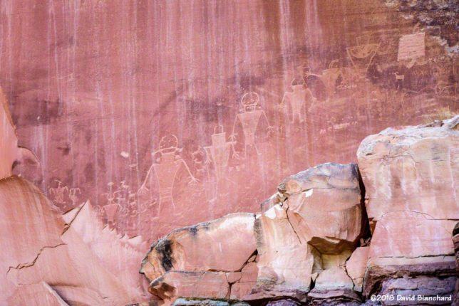 Petroglyph panel in Capitol Reef National Park.