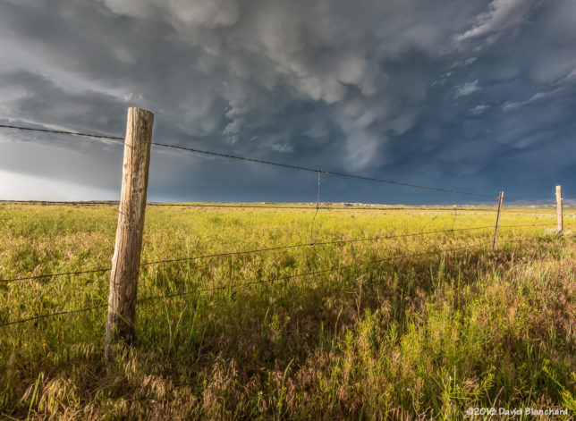 Cumulonimbus Mammatus over Wyoming grasslands.