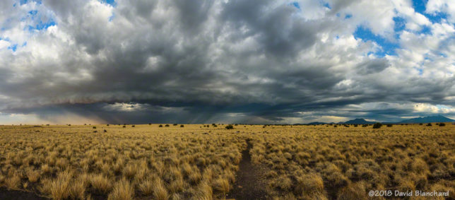 Gust front and arcus clouds advance across Wupatki National Monument.