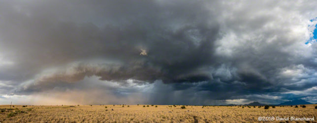 Gust front and arcus clouds continue to advance across Wupatki National Monument.