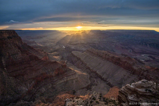 Sunset over Grand Canyon as seen from Lipan Point.