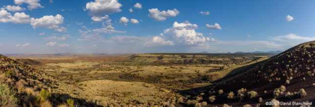 A distant cumulonimbus can be seen from the Doney Mountain Picnic Area near Wupatki National Monument.