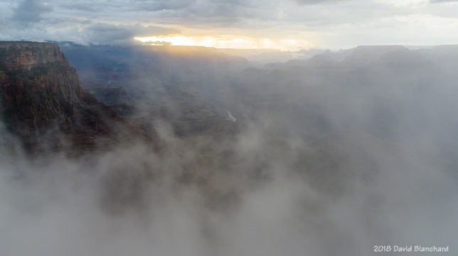 More fog in Grand Canyon.