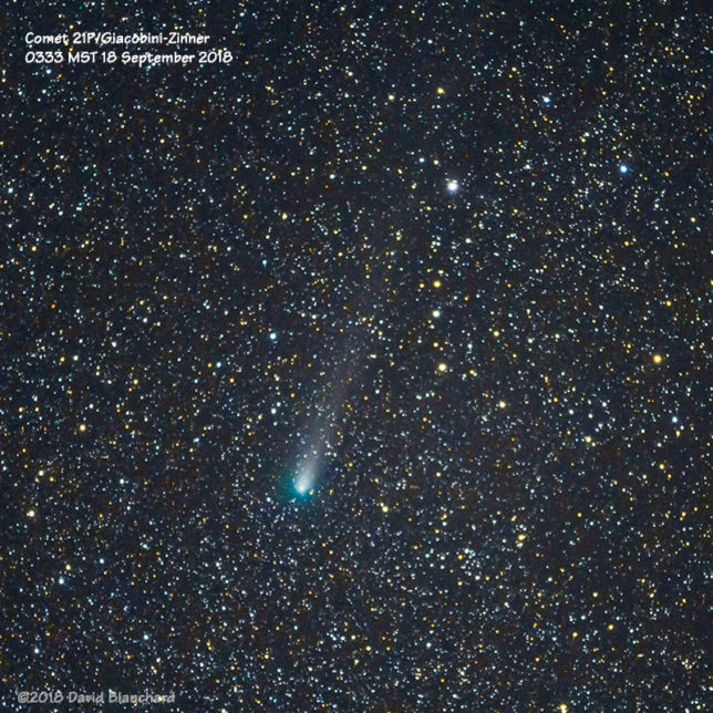 Comet 21P/Giacobini-Zinner.