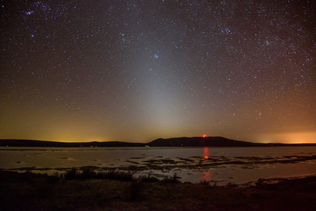 Zodiacal Light and light pollution. (16mm lens)
