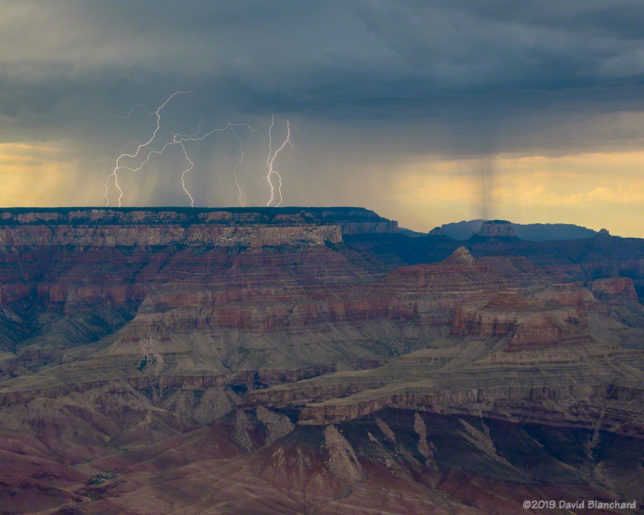 Lightning on the North Rim of Grand Canyon.