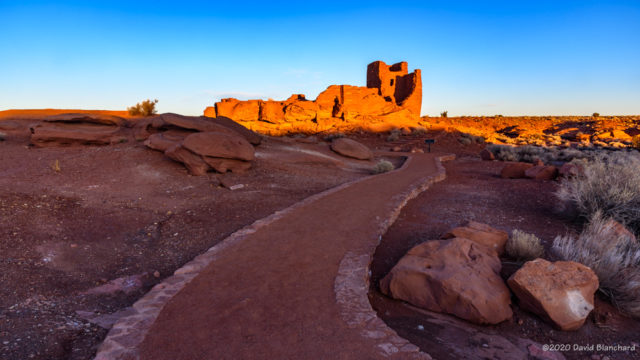 Sunrise at Wukoki Pueblo, Wupatki National Monument.