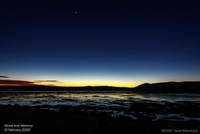 Venus and Mercury in the evening sky.