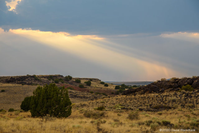 Crepuscalar Rays—Wupatki National Monument.