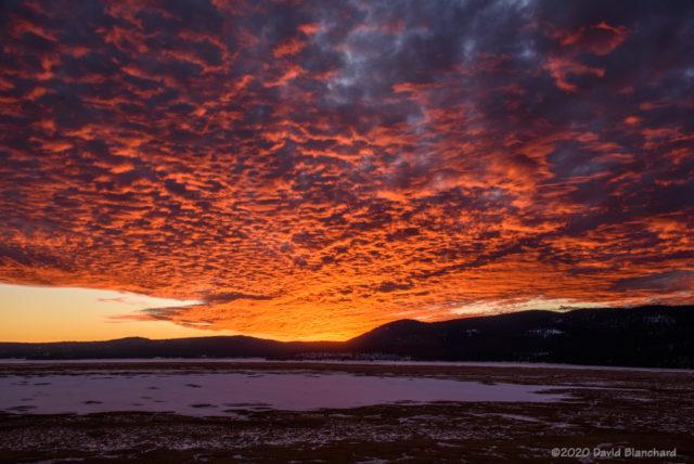 Sunset viewed from Mormon Lake.