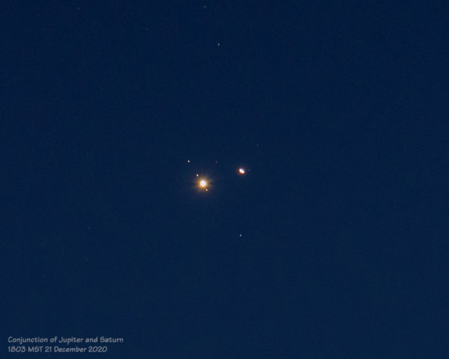 Great Conjunction of Jupiter and Saturn (21 December 2020)