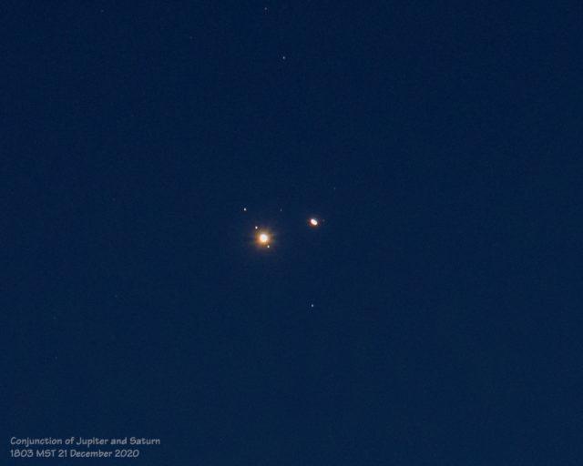 Great Conjunction of Jupiter and Saturn (21 December 2020)