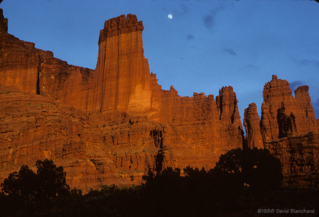 Fisher Towers sunset.