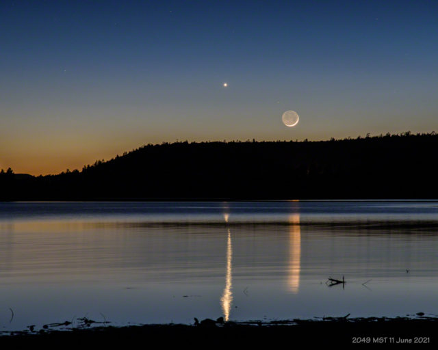 Conjunction of Venus and the Moon.