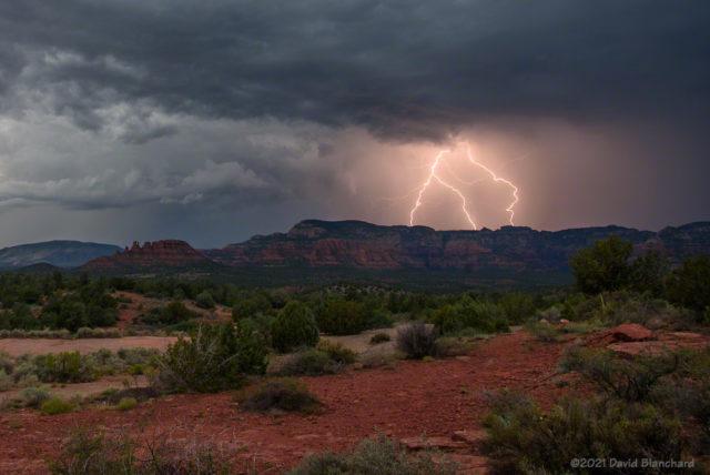 Lightning over the Mogollon Rim.