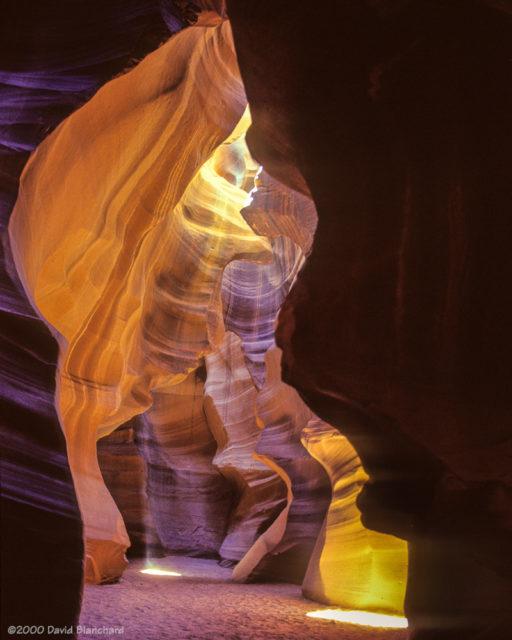 Upper Antelope Canyon (2000, Kodachrome 64).
