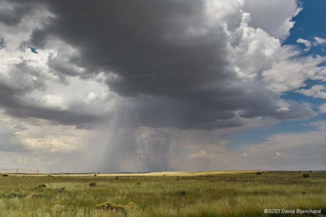 Lightning at Wupatki National Monument.